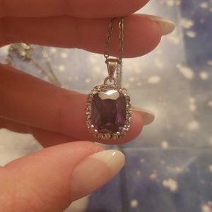 Jewelry - Amethyst Pendant Sterling Silver Necklace